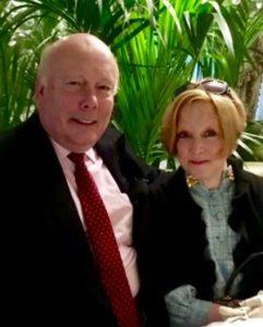 Photo of Julian Fellowes and Ellen Easton
